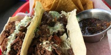 Beef tacos at Taco Taco